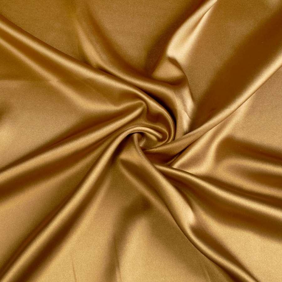 Стрейч атлас шамус горчично золотистый ш.150