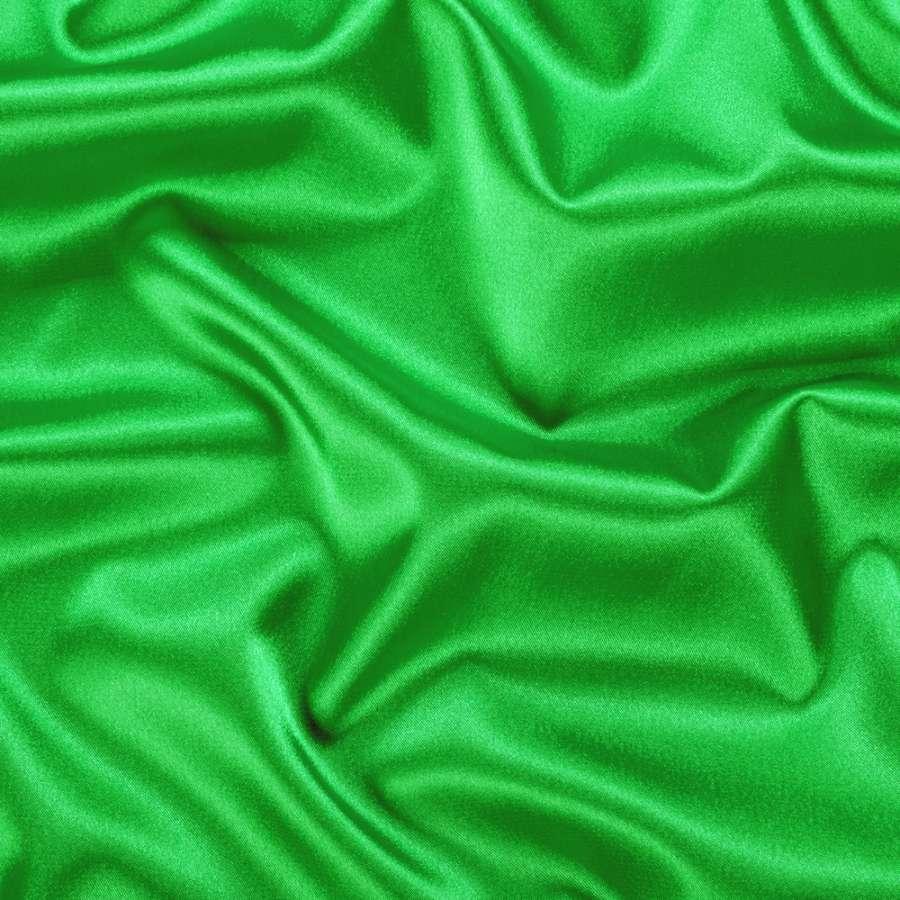 Атлас стрейч шамус зелений яскравий ш.150