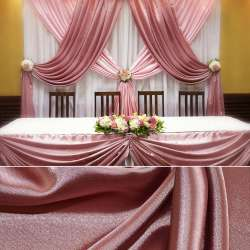 Атлас стрейч шамус розовый пл.130 г/м ш.150