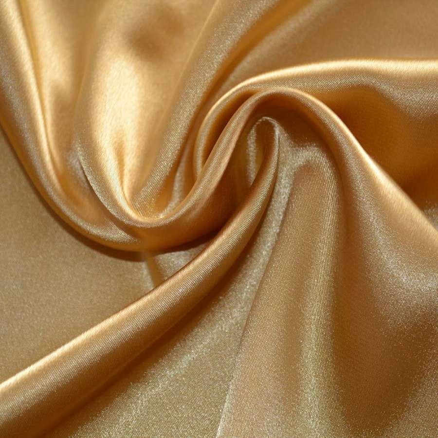 Стрейч атлас темно золотистый шамус пл.130 г/м ш.150