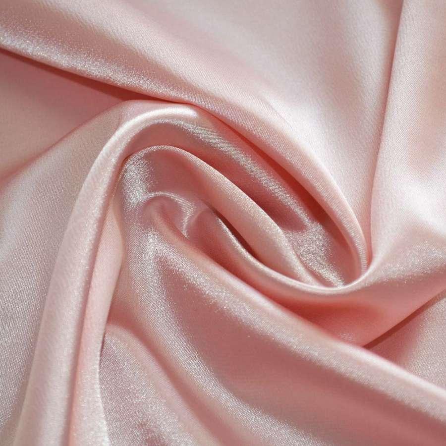 Атлас стрейч шамус бледно-розовый пл. 130 г/м ш.150