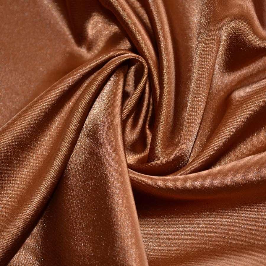 Стрейч атлас шамус коричневый ш.150