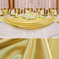 Атлас стрейч шамус золотисто-желтый пл.130 г/м ш.150