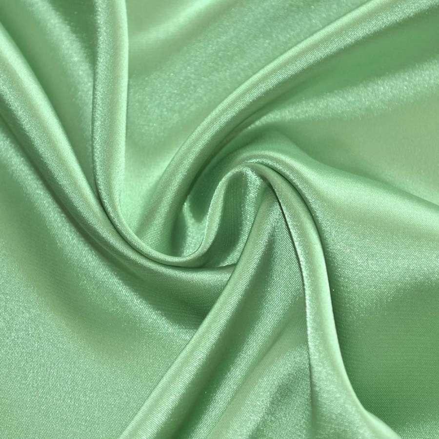 Атлас стрейч шамус оливково-серый пл.130 г/м ш.150