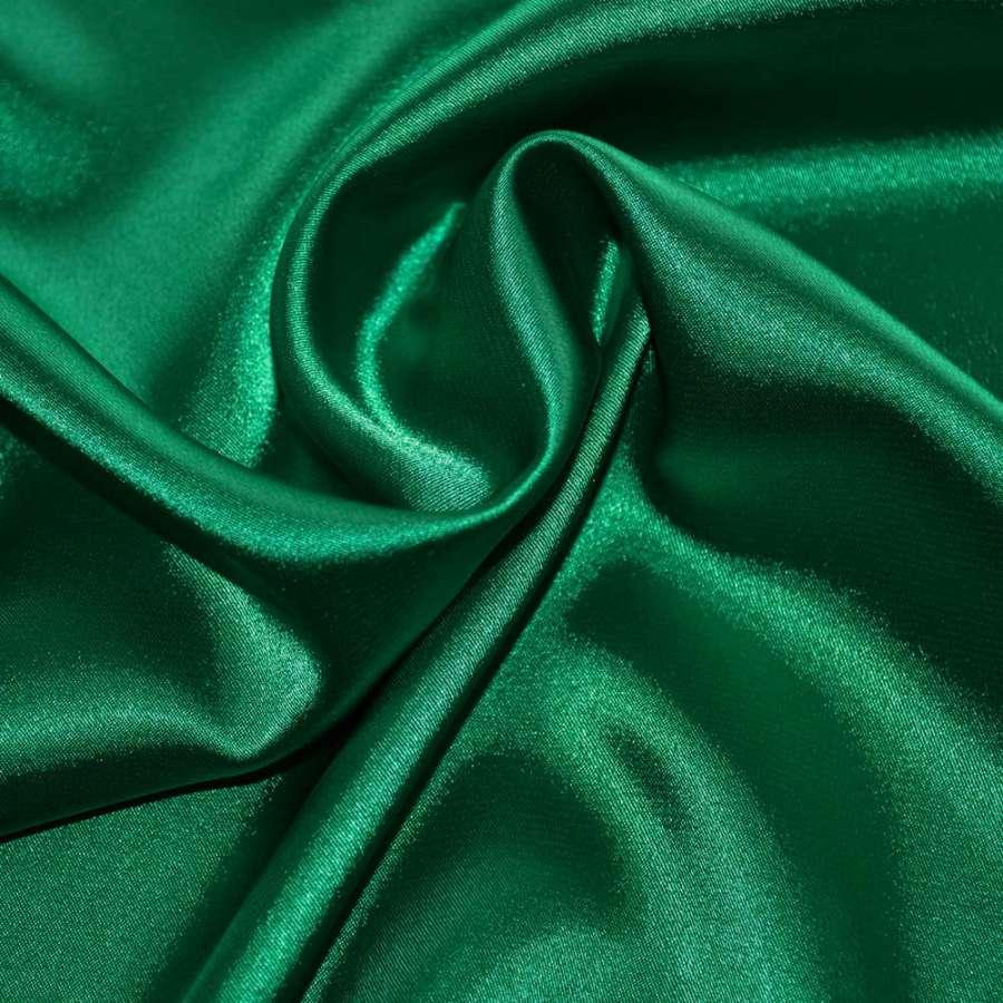 Атлас стрейч шамус зелений пл.130 г/м ш.150