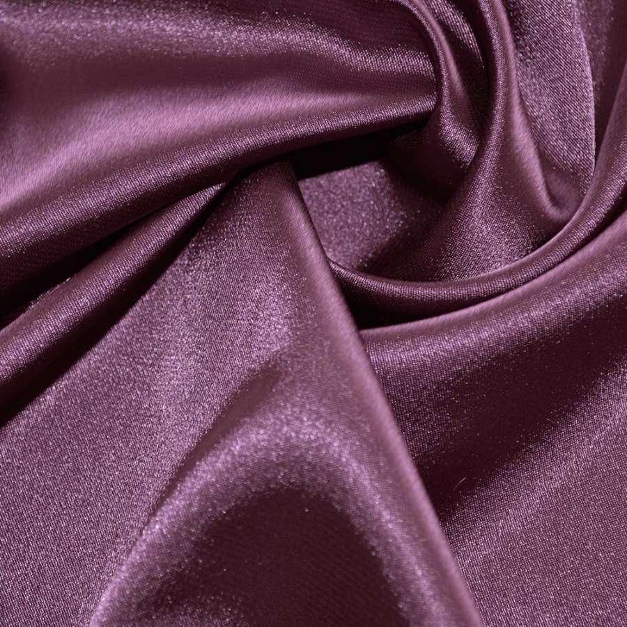 Стрейч атлас темно сиреневый перламутр шамус пл.130 г/м ш.150