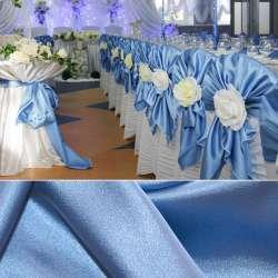 Атлас стрейч шамус голубой пл.130 г/м ш.150