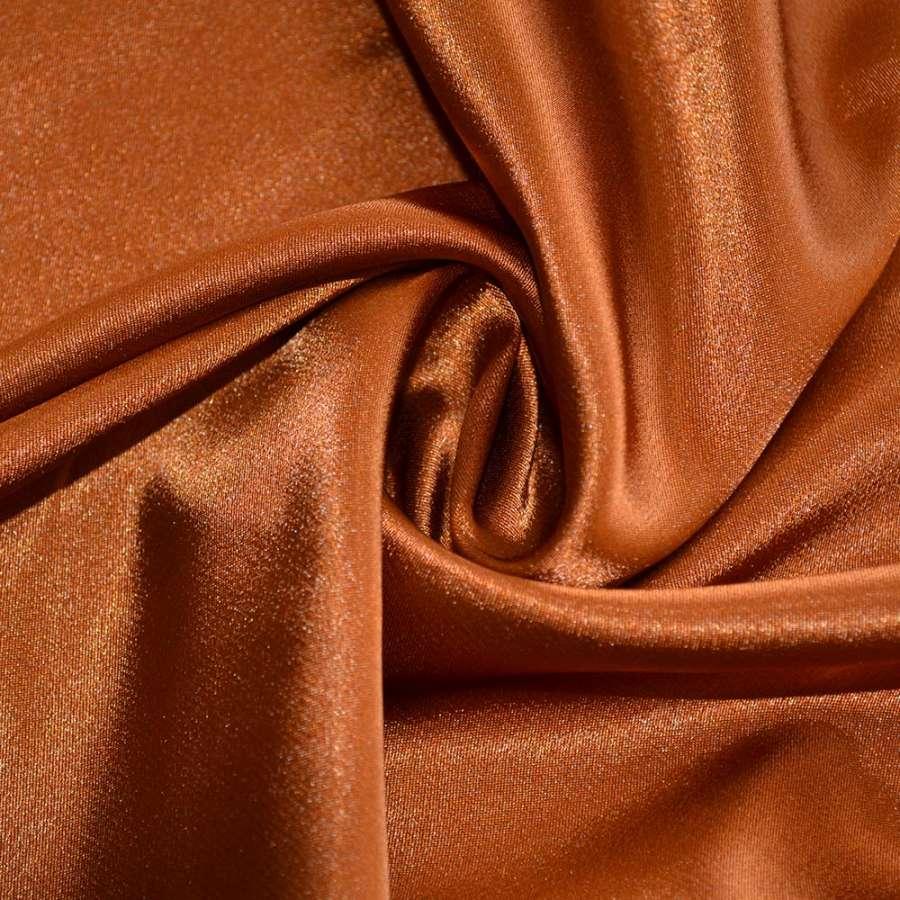 Стрейч атлас ярко коричневый шамус пл.130 г/м ш.150