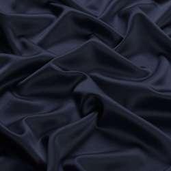 Шелк японский стрейч синий темный ш.150