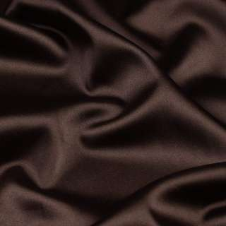 Шелк японский темно коричневый стрейч ш.150