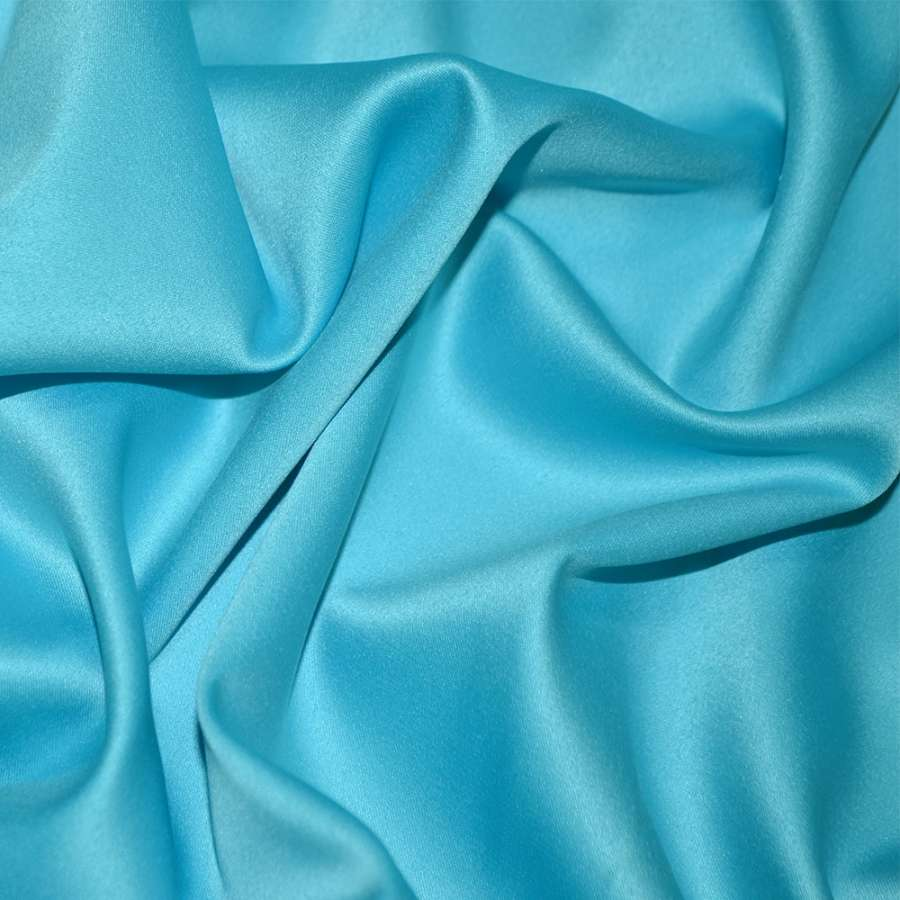 Шелк японский стрейч ярко-голубой ш.150
