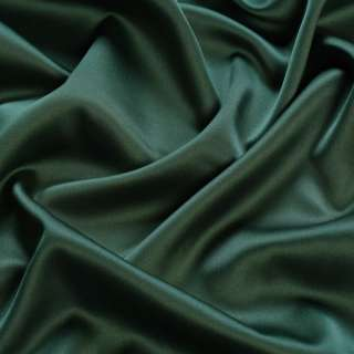 Шовк японський стрейч темно-зелений з чорним відтінком ш.150
