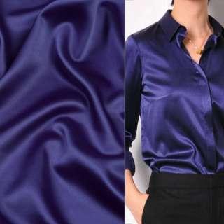 Шелк японский стрейч сине-фиолетовый ш.150
