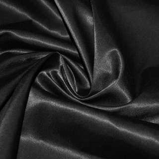 Коттон атлас чорний ш.145