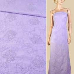 Батист светло фиолетовый с вышивкой ш.145
