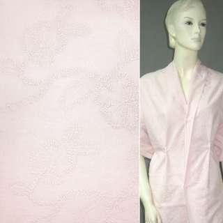 батист розовый выш.розовой нитью