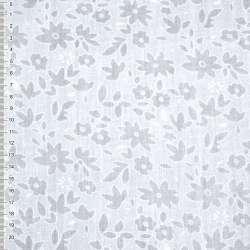 Батист белый с цветами деворе ш.150