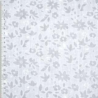 Батист белый с цветами деваре ш.150