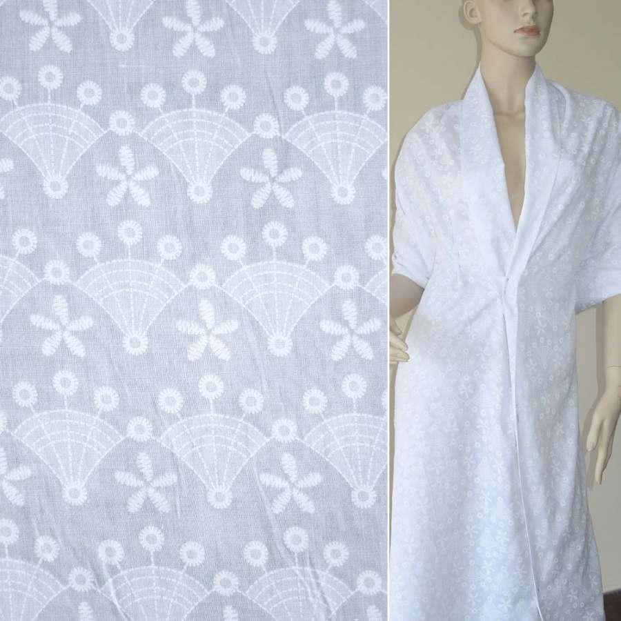 Батист белый одуванчик деворе ш.150