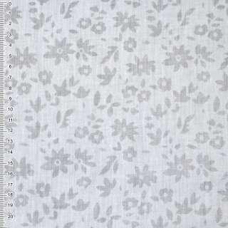 Батист белый деворе в цветы ш.150