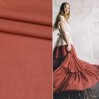 Батист коричнево красный ш.145