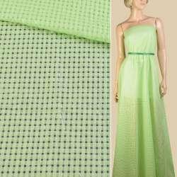 Батист зеленый мелкие квадраты ш.140