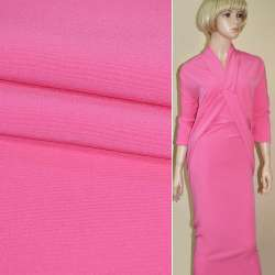 Креп костюмный бистрейч розовый яркий ш.150