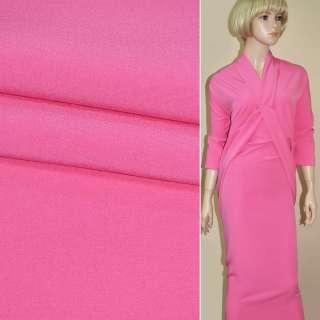 Креп костюмный бистрейч ярко-розовый ш.150