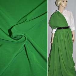 Креп костюмный бистрейч зеленый (оттенок) ш.150