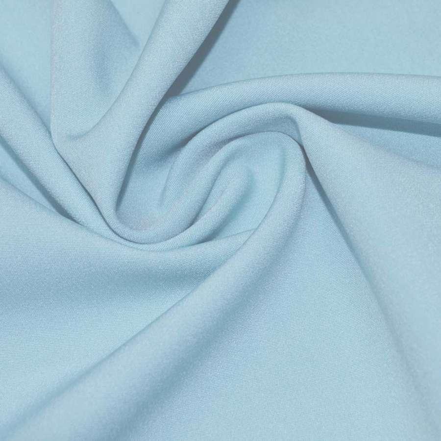 Креп костюмний бістрейч блакитний світлий ш.150