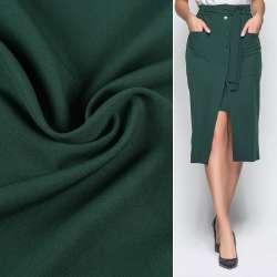 Креп костюмний бістрейч зелений темний ш.150