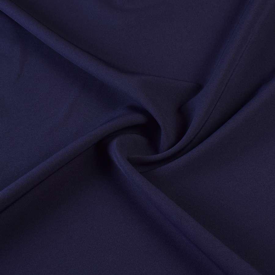 Креп костюмный бистрейч синий темный с фиолетовым оттенком ш.150