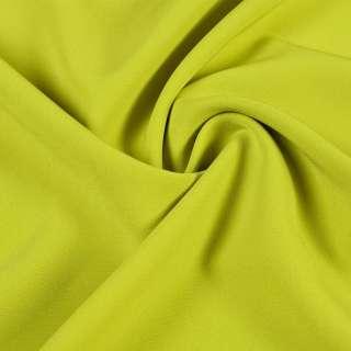 Креп костюмный бистрейч зеленое яблоко ш.150