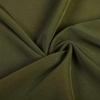 Креп костюмный бистрейч болотный ш.150