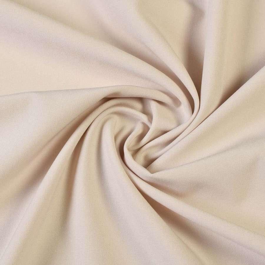Ткань костюмная бистрейч молочно-бежевая ш.150