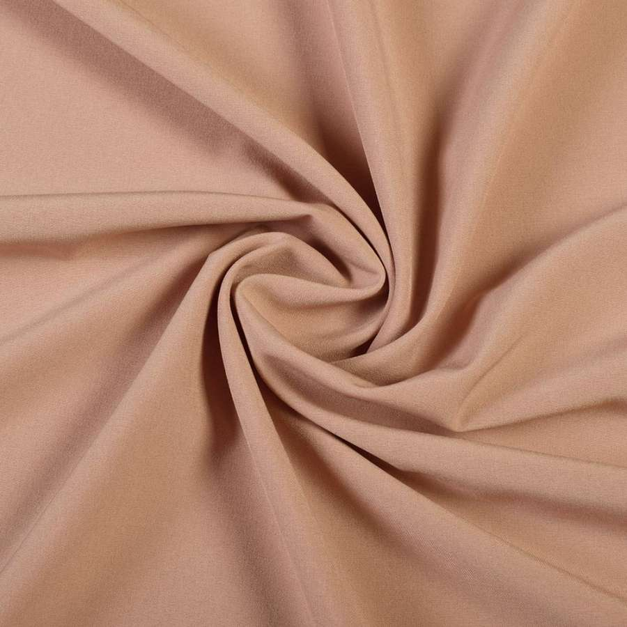 Тканина костюмна бістрейч бежево-рожева ш.150