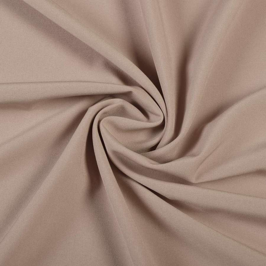 Ткань костюмная бистрейч бежевая с розовым оттенком ш.150