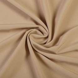 Ткань костюмная бистрейч бежевая ш.150