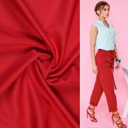 Тканина костюмна бістрейч червона ш.150
