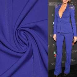 Тканина костюмна бістрейч синя (електрик) ш.150
