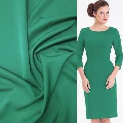 Тканина костюмна бістрейч зелена ш.150