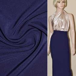 Ткань костюмная бистрейч синяя ш.150