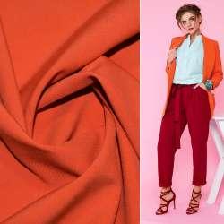 Тканина костюмна бістрейч оранжево-теракотова ш.150