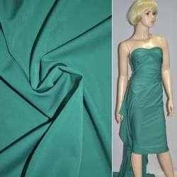 Ткань костюмная бистрейч бирюзовая ш.150