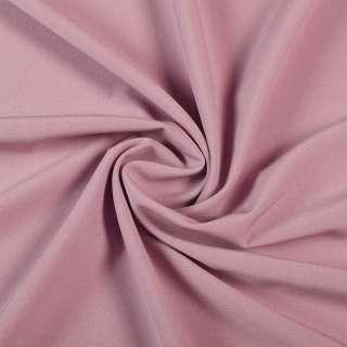 Тканина костюмна бістрейч рожево-сіра ш.150