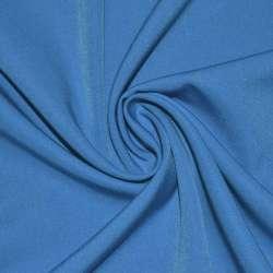 Тканина костюмна бістрейч синьо-блакитна ш.150