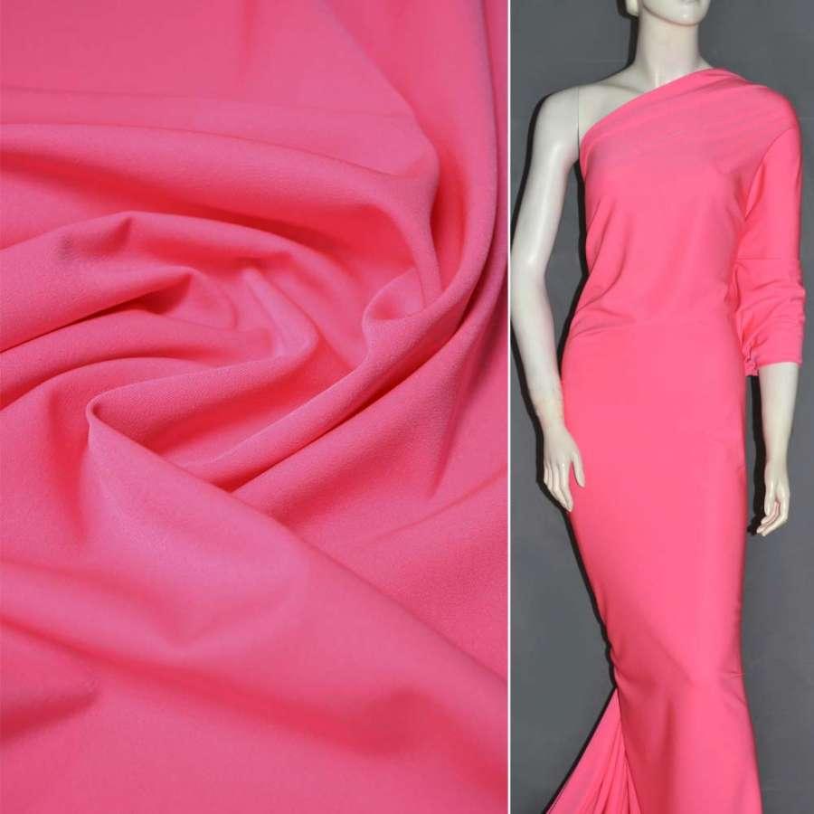 Тканина костюмна бістрейч рожева (ультра) ш.150