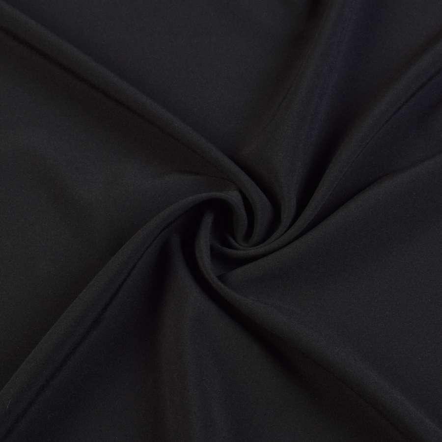 Ткань костюмная бистрейч черная, ш.150