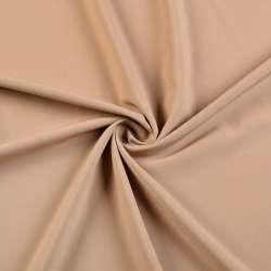 Ткань костюмная бистрейч бежевая, ш.150