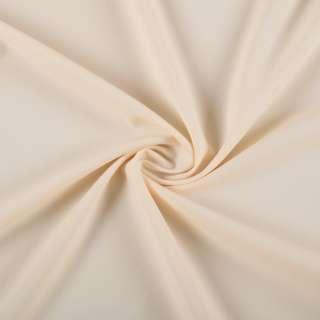 Биэластик креп молочно бежевый ш.150